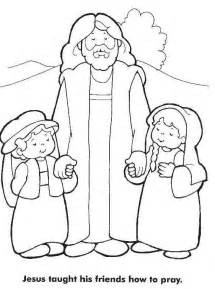 coloring pages jesus and jesus the children coloring pages coloring home