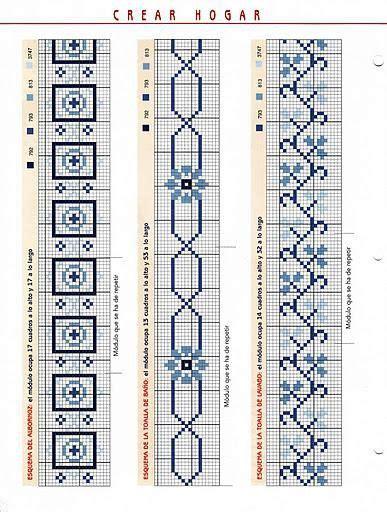cenefas geometricas punto de cruz 390 best toallas images on pinterest punto croce cross