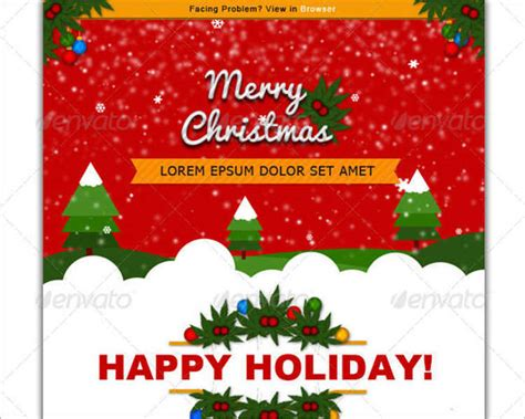 24 Best Christmas Email Templates Creativetemplate Card Emails Templates Free