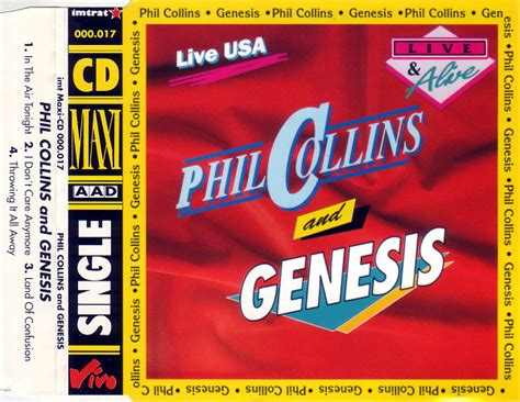 live usa phil collins and genesis live usa cd at discogs