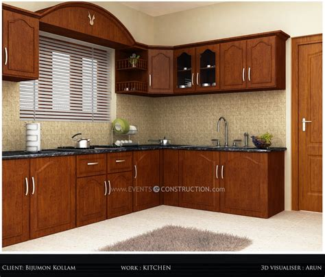 evens construction pvt  simple kerala kitchen interior