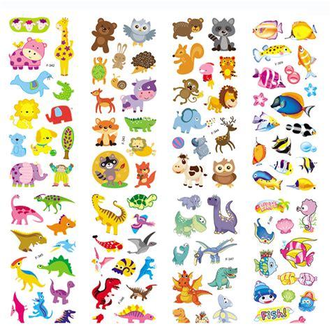 6 pcs lot 3d gelembung dinosaurus stiker busa kartun ikan stiker hewan untuk anak anak
