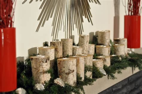 christmas mantle decorating ideas birch logs lifeovereasy