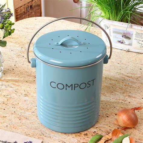 vintage blue compost caddy by dibor notonthehighstreet