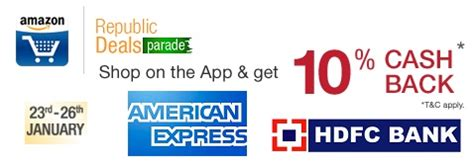 Hdfc Gift Card For Online Shopping - 10 cash back on amarican express and hdfc bank cards at amazon in offersbiz
