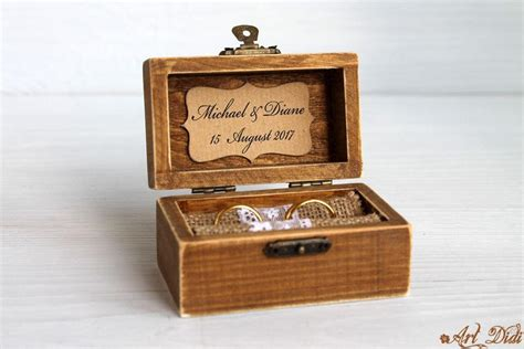 ring bearer box wedding ring box personalized ring box