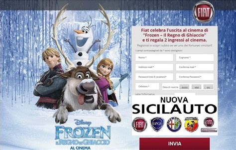 film frozen nuovo fiat nuovo spot tv con i personaggi del film disney