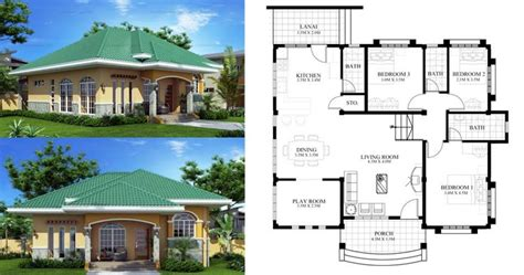 marcela elevated bungalow house plan php   pin