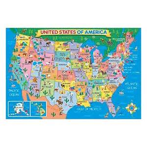 us map 24 pc floor puzzle educational toys planet