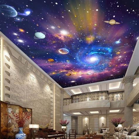 Galaxy Wallpaper For Ceiling by Custom 3d Photo Wallpaper Universe Galaxy Room