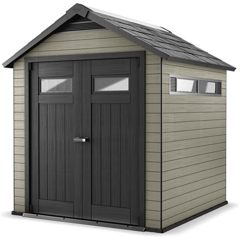 Rona Canada Sheds by Fusion Garden Shed 7 1 2 X 7 Beige Black Rona