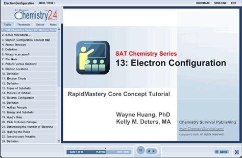 tutorial questions on electron configuration sat chemistry electron configuration