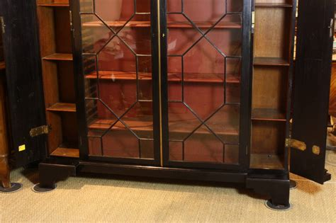 Black Bookshelves For Sale Neoclassical Black Lacquered Bookcase For Sale At