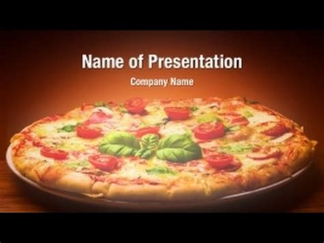 Pizza Powerpoint Video Template Backgrounds Digitalofficepro 01237v Youtube Pizza Powerpoint Template