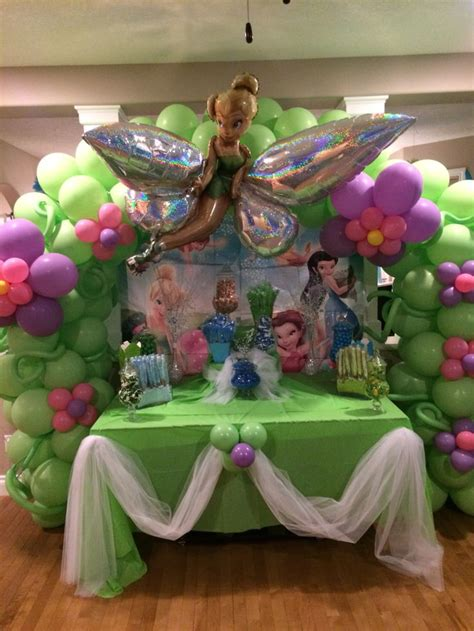 tinkerbell balloon decor tinkerbell party tinkerbell