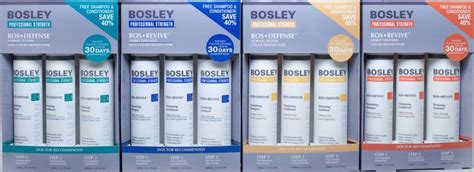bosley pro bosrevive 30 day kit hsn bosley professional sections hair salon in newport pa