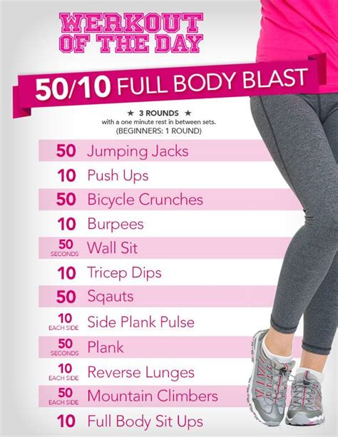 10 Bodies To Remember When Working Out by Werkout Of The Day 50 10 Blast Lucille