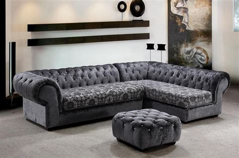 extravagant tufted covered in microfiber sectional hayward