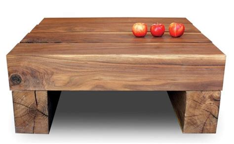 Railroad Tie Coffee Table Beam Coffee Table