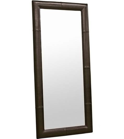 bi cast leather floor mirror in framed mirrors
