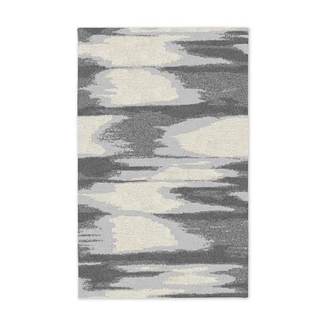Faded Ikat Wool Rug faded ikat wool rug slate west elm