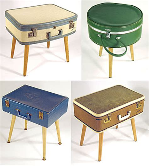 quirky end tables quirky uses for vintage suitcases been seen