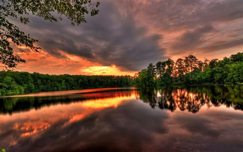 sunset river trees sky wallpapers sunset river trees