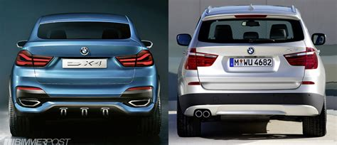 size difference between bmw x3 and x5 side by side comparo f26 x4 vs f25 x3