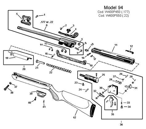 air rifle parts diagram air gun schematics rws model 48 air rifle schematic at