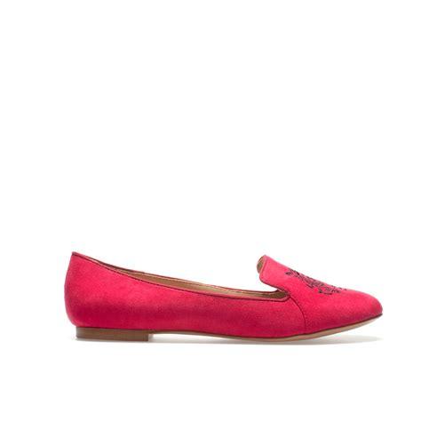 zara slipper shoes zara tiger slippers in strawberry lyst