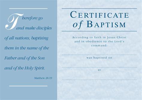 baptism certificate templates baptism certificate certificate of baptism printed in