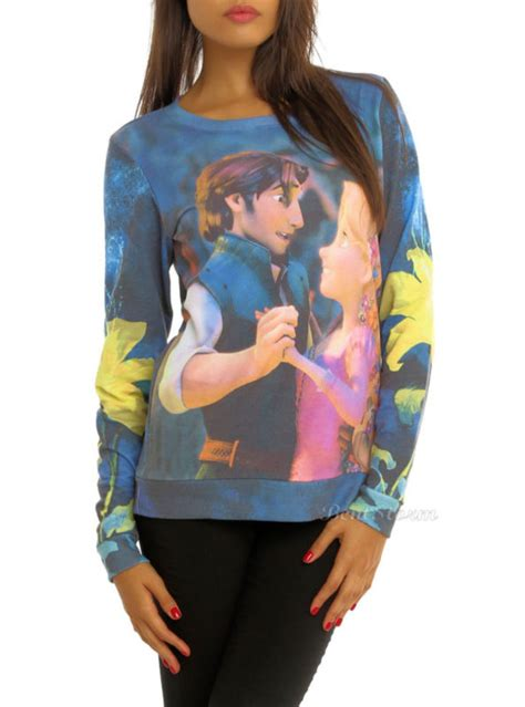Sweater Disnep Tangled sweater disney tangled yellow flowers flynn repunzel wheretoget