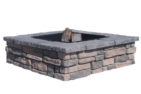 Square Firepit Square Pit Kits Concrete Products