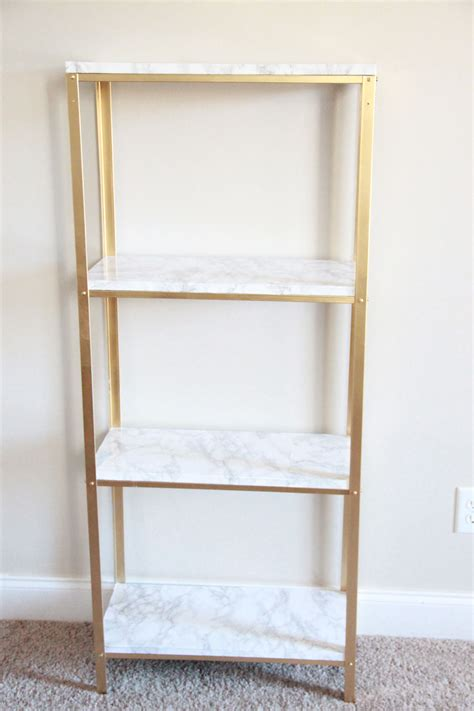etagere ikea gold and marble ikea hyllis hack gold shelves marbles