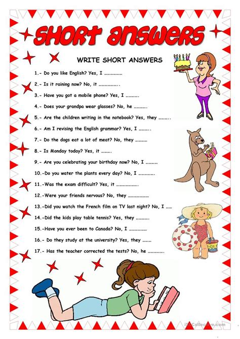 1 the new answers 0890515093 short answers worksheet free esl printable worksheets made by teachers