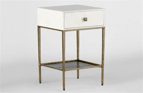 White And Gold Nightstand Gold And White Nightstand May By Gabby