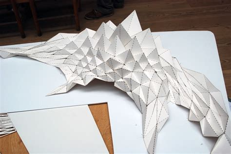 Paper Folding Architecture - origami folded structures workshop oooja i 226
