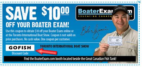 coupon code for pa boating license boater exam vip code gofish 10 off