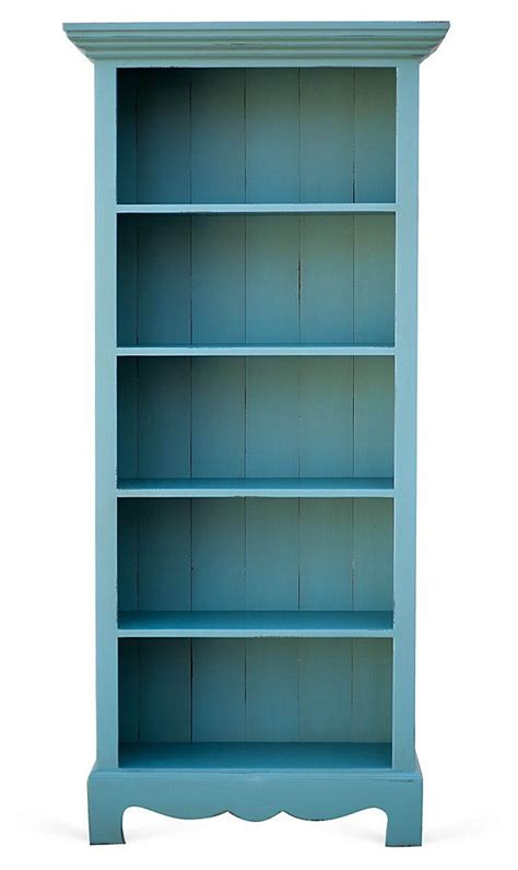 house bookcase turquoise