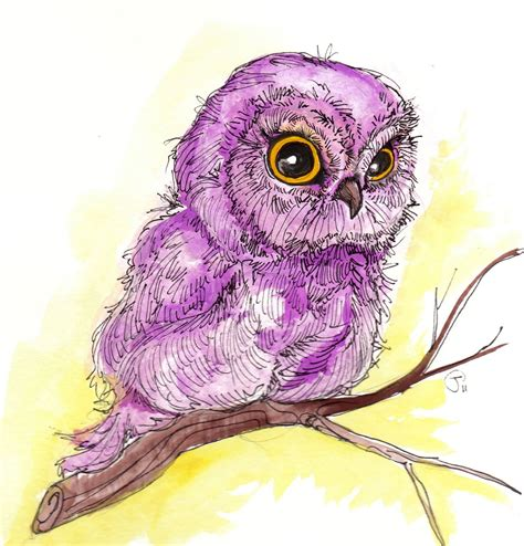 Owl Purple purple owl by mingo owls owl