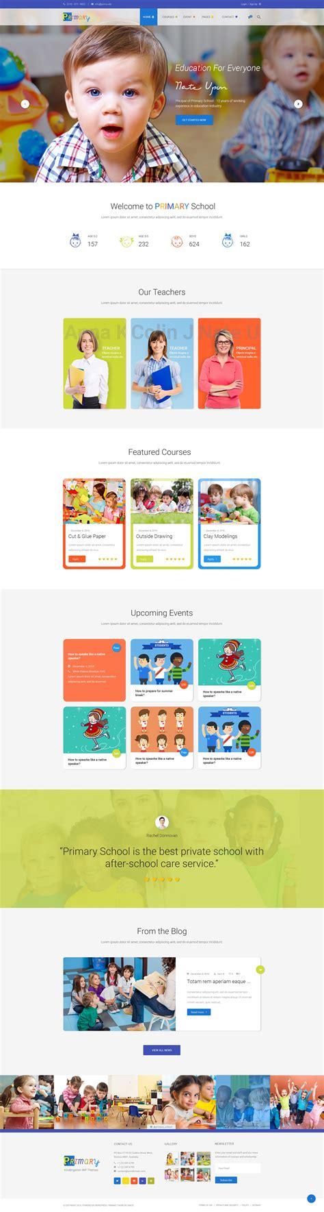 wordpress themes kindergarten free primary kindergarten school wordpress theme wordpress