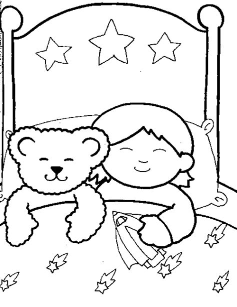 sleeping baby coloring pages
