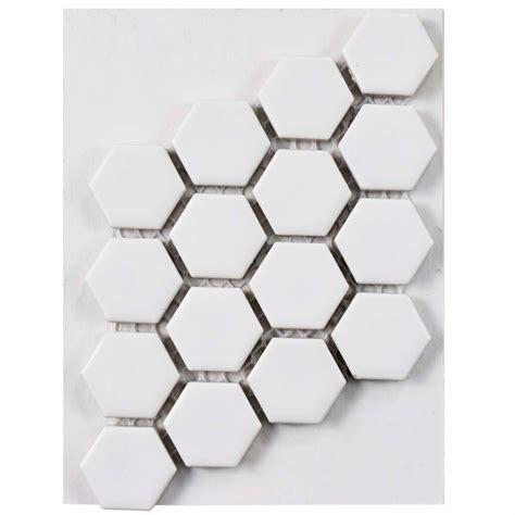 1 matte white hex floor tile merola tile metro hex matte white porcelain mosaic tile