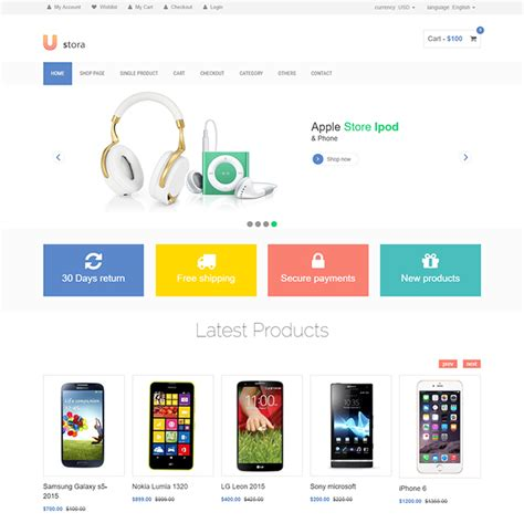 template ecommerce free html ecommerce templates for shopping
