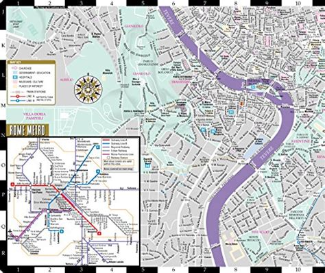 streetwise rome map laminated city center map of rome italy michelin streetwise maps books product image