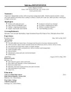 cook cashier assistant manager resume exle kfc