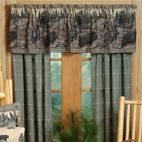 bears curtains western rustic curtains drapes valances pillows