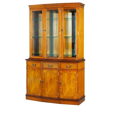 traditional yew display cabinet
