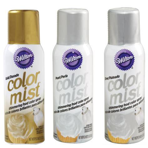 food color spray wilton metallic color mist food spray