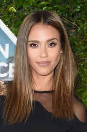 Jessica alba gave us serious hair envy with this super sleek hairstyle